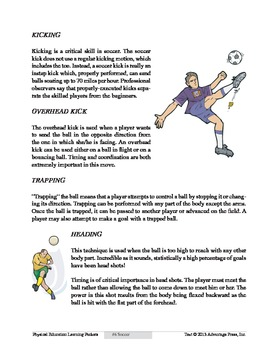 Soccer: An Academic Learning Packet