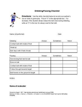 Soccer Assessment Packet (Elementary)