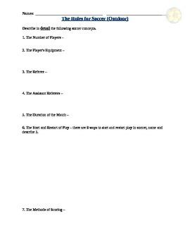 Soccer Assignment