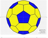 Soccer Ball (4 Quadrants) Coordinate Graphing