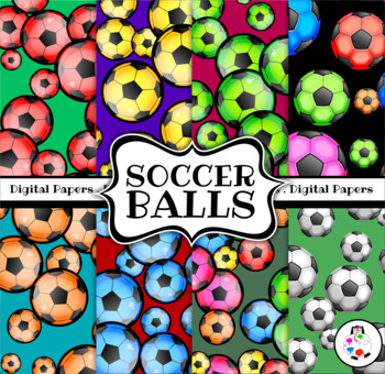 Soccer Ball Digital Backgound Papers