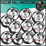 Soccer Ball Emoticons Clipart Set {Educlips Clipart}