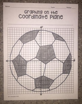 Soccer Ball (Graphing on the Coordinate Plane)