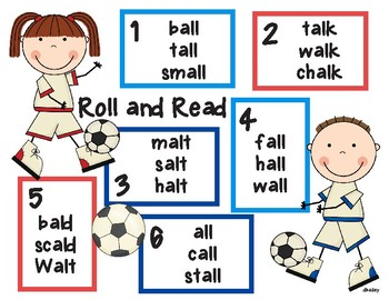 Soccer Ball Roll and Read al, all