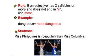 Soccer- Ballet- comparative/superlative adjectives- compare and contrast
