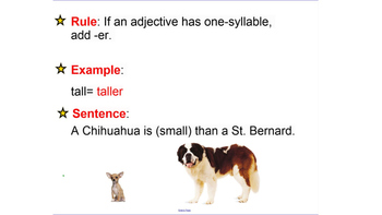 Soccer- Ballet- comparative/superlative adjectives- compar