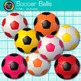 Rainbow Soccer Ball Clip Art {Sports Equipment for Physical Education Teachers}