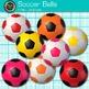 Rainbow Soccer Ball Clip Art {Sports Equipment for Physica