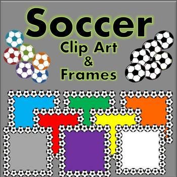 Soccer Balls {Clip art and Frames}