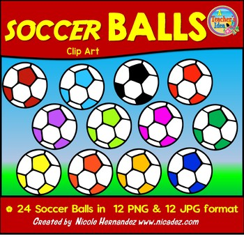 Soccer Balls Clip Art for Teachers