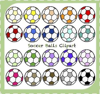 Soccer Balls Clipart / Sports Clipart