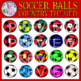 Soccer Balls: Country Themed Clipart