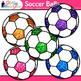 Rainbow Soccer Ball Clip Art {Sports Equipment for Physical Education Teachers}