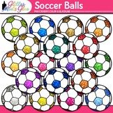 Rainbow Soccer Ball Clip Art {Sports Equipment for Physica