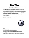 Soccer Based 4th Grade Review Questions