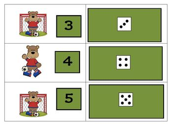 Soccer Bears Eight Games for Counting and Cardinality