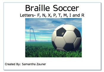 Soccer Braille File Folder Game