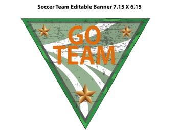 Soccer Bulletin Border, Editable Name Tag & Banner, with Editable Poster