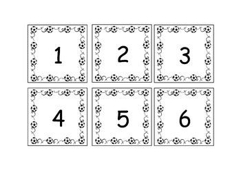 Soccer Calendar Numbers