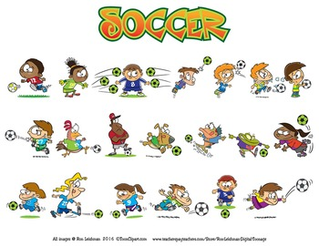 Soccer Cartoon Clipart