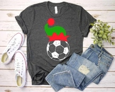 Soccer Christmas Hat svg Elf sweater ball mom tackle merry Santa 1050s