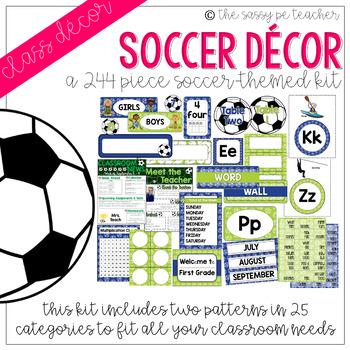 Soccer Classroom Decor Pack