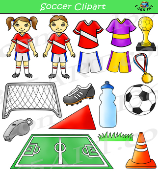 Soccer Clipart Bundle