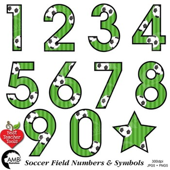 soccer clipart numbers clipart sports team best teacher tools rh teacherspayteachers com numbers clipart letters black and white numbers clip art 70