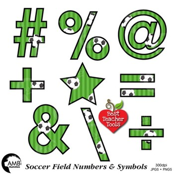 Soccer Clipart, Numbers Clipart, Sports Team, {Best Teacher Tools} AMB-1956