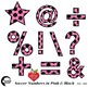 Soccer Clipart, Pink Numbers Clipart, Sports Team, {Best Teacher Tools} AMB-1989