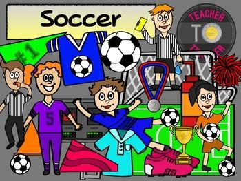 Soccer Clipart - Sports Clipart {TeacherToTeacher Clipart}