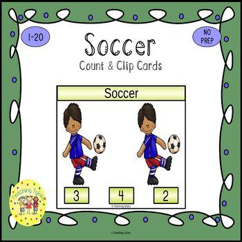Soccer Clip Task Cards