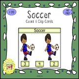 Soccer Count and Clip Sports Task Cards