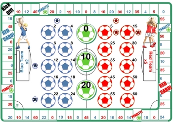 Soccer Counting in 2's 5's 10's Games