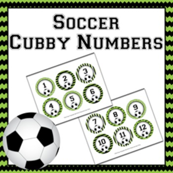 Soccer Cubby Number Labels 1-30