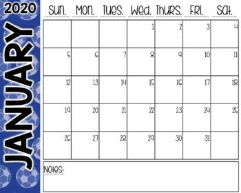 Soccer Desk Calendar
