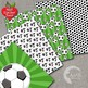 Soccer Digital Papers, Green Football Backgrounds {Best Teacher Tools} AMB-1969