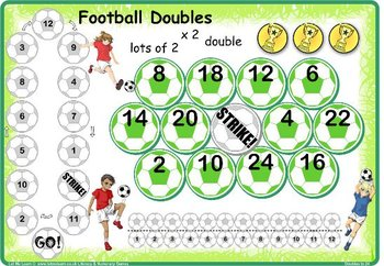 Soccer Doubles and Halves to 24