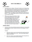 Soccer Drills - Coaching and Physical Education