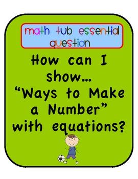 Soccer Equation Sort Tiered Math Tub