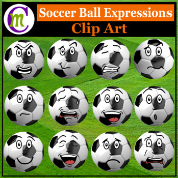 Soccer Expressions Clipart | Sports Ball Emotions Clip Art