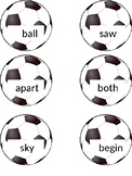 Soccer Flashcards for Wonders Series 2nd grade