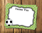 Soccer Flat Thank You Note Cards