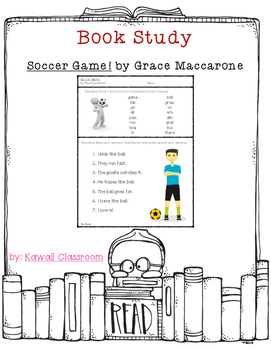 Soccer Game! Rhyming & Verbs Activity