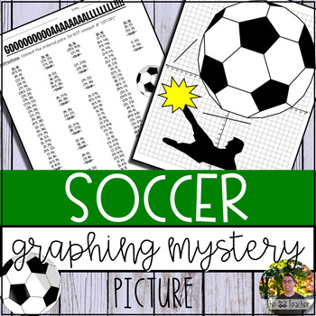 Soccer Graphing Mystery Picture (Coordinate Grid & Ordered Pairs)