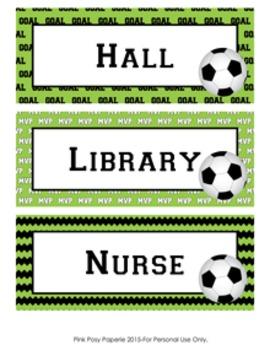 Soccer Hall Passes