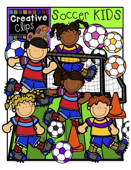 Soccer KIDS {Creative Clips Digital Clipart}