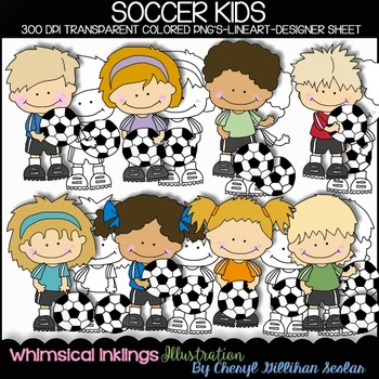 Soccer Kids Clipart Collection