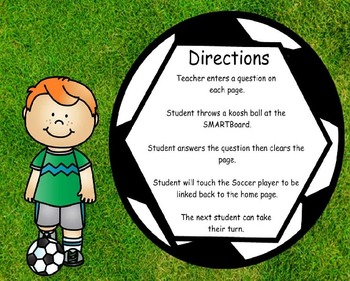 Soccer Koosh Ball Game  SMARTBoard