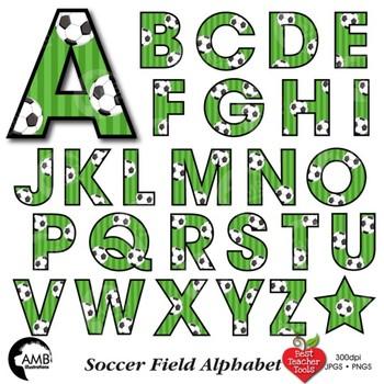 Soccer Letters Clipart, Football Alphabet Clipart, {Best Teacher Tools} AMB-1968